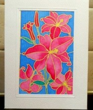 silk painting flower
